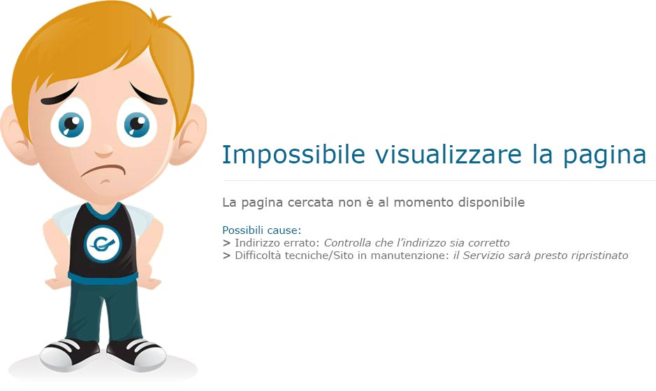 Impossibile visualizzare la pagina